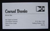 Conrad Brooks Plan 9 Business Card
